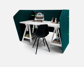 Desk Screen - Booth - Concentration Workplace - Sound absorbent - Coronaproof - Home working - Home Office - Office - Office - Handy