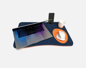 Laptop Shelf - Working from home - iPhone Holder - Recycled Material - Cup Holder - Working on the couch, in a chair or in your bed