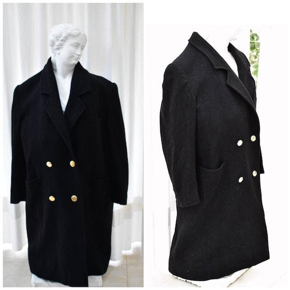 Vintage Long Wool Coat, Elegant Wool Jacket, Warm