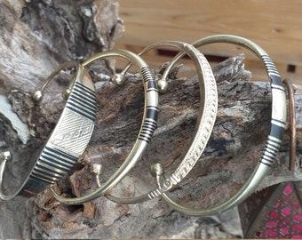 Tuareg Touareg jewelry antique Vintage Tuareg style bracelet in solid silver Tuareg bracelet. African jewelry Nigerian silver