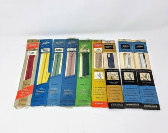 Lot of 8 colors and sizes Vintage Coats /& Clarke Zippers Misc