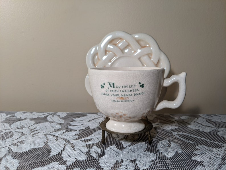 Russ Irish Blessing Celtic Cup and Saucer Set