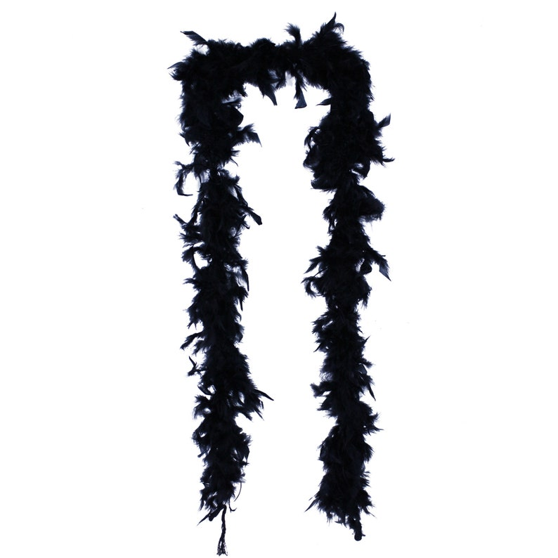 6 Feet Long-Great for Party Costume Black 40 Gram Feather Boa Wedding