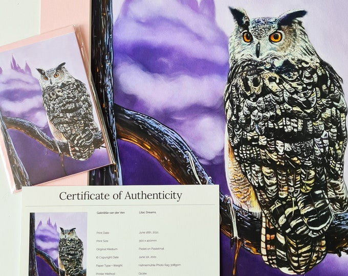Lilac Dreams Print & Postcard bundle