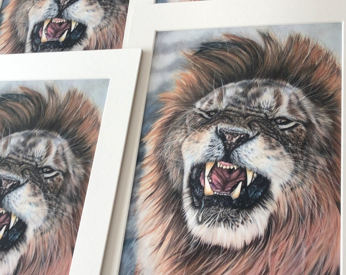False Confidence | Lion drawing print