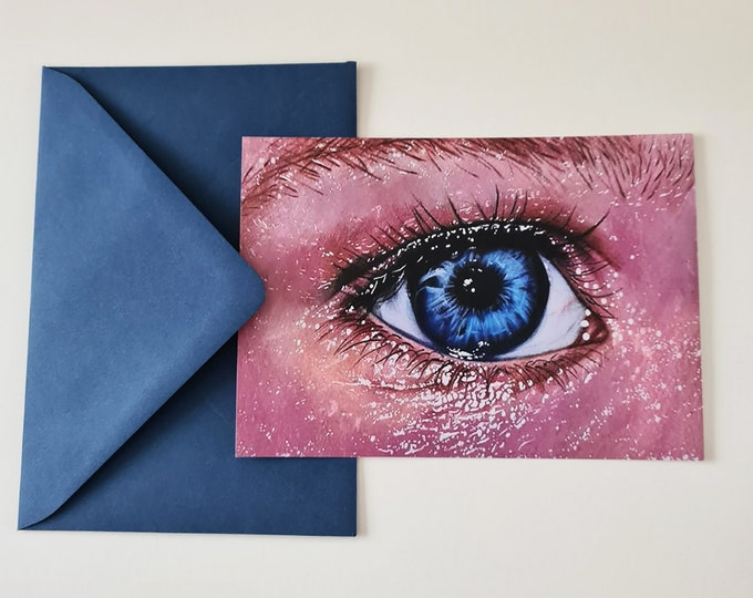 Greeting card | Eye drawing | Little art print