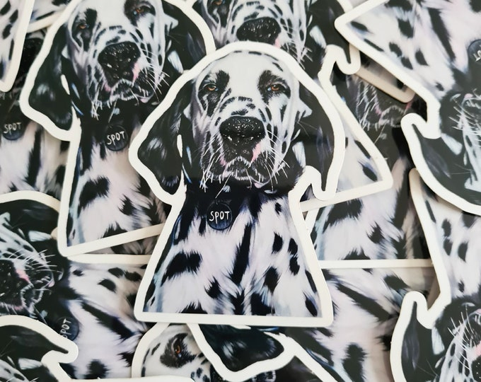 Transparant Dalmatian dog sticker | 'Spot' original drawing | Bullet Journal Stickers, Planner Stickers, Scrapbook Stickers, Decoration