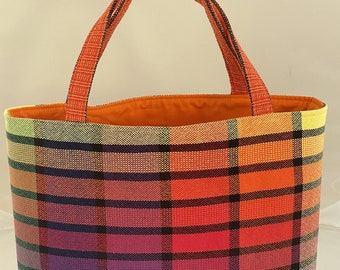 Handwoven Tote Project Bag
