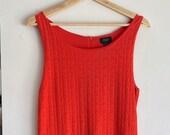 Deletta Orange Patterned Summer Dress