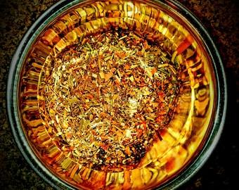 AYURVEDIC WELLNESS BLEND - Organic Holistic Wellness Blend with Lemongrass, Tulsi (Holy Basil), Ashwaghanda, Gotu Kola, and Banana