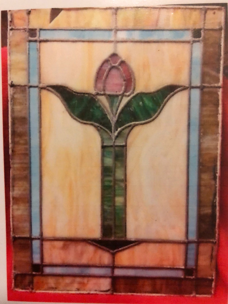 VICTORIAN 26x19 12 Stained Glass Rebuild
