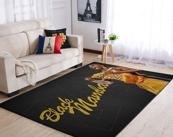 Floor Mat Carpet Sport Decor Basketball legend Kobe Bryant Rug Lakers legends