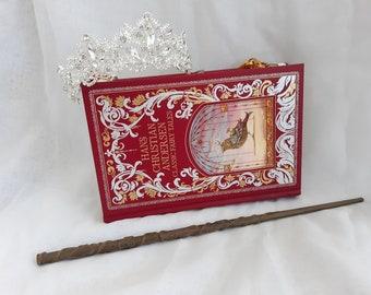 Fairy Tale Leather Bound Book Purse
