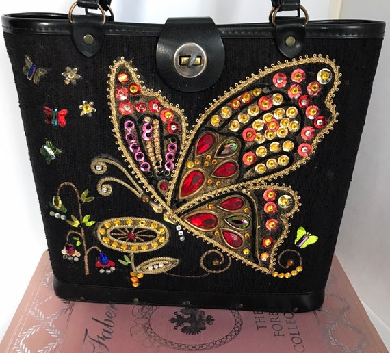 Beautiful Mid-century Enid Collins style butterfly