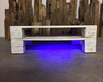 """Pallet furniture Coffee table with LED lighting """"Lucca"""""""
