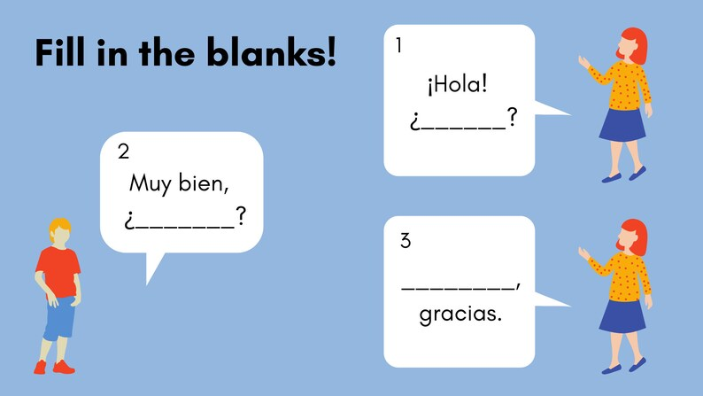 Complete Spanish Lesson Saying Hello