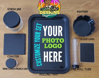 FREE SHIPPING Gifts for men Custom Rolling Tray Set Create your own personalized rolling tray set Beauty Tray 420 Rolling Tray Set
