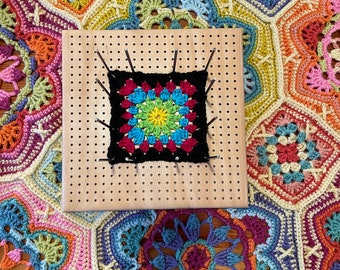 Crochet Blocking Board with 12 stainless steel rods