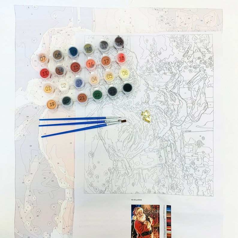 Home decor DIY kit Home by the sea\u2014Paint by number kit adult landscape painting DIY coloring by numbers Craft kit for adults