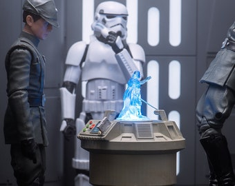 Imperial Holotable & 3 Holograms from Star Wars