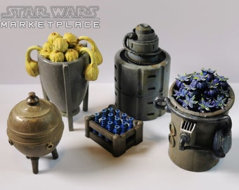 Market Stall Fruit Containers from Star Wars - Set 2