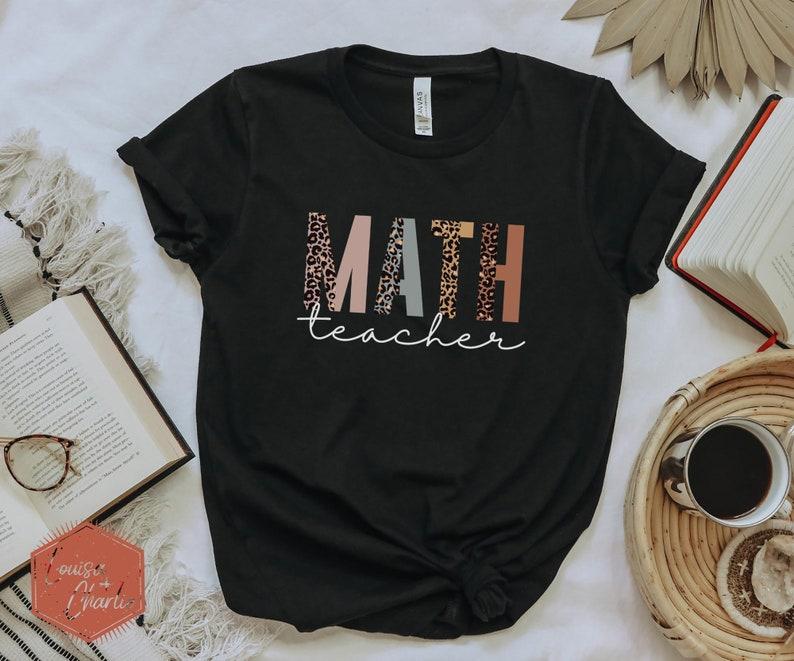 Math Teacher ShirtCheetah Teacher ShirtGift for Math image 0