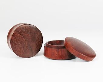 "Custom Blood Wood Stash Plugs I Saddle Stash Plugs I Wood Stash Ear Plugs From 2G(6.5mm), 0G(8mm), 00G(9mm) 7/16""(11mm) up to 3"" (76mm)"