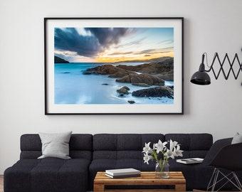Sunset at Achmelvich Beach, Scotland, United Kingdom