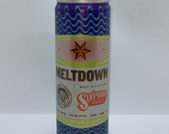 Meltdown six point Can Candle   recycled can candle   100% soy wax candle   beer candle   ale