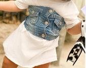 toddler t-shirt dress girls denim corset toddler short sleeve dress