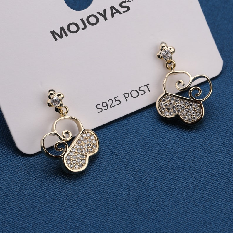 Cloud Pendant CZ Micro Pave Fashion Dangle Stud Earring Hoop Earrings with 925 Sterling Silver Post for Anniversary Birthday Gift