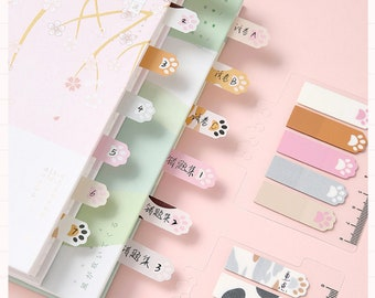 Scrapbooking Planners Journaling Back to School Kitten Paws Notes Cat Paw Sticky Notes