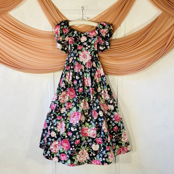 Vintage Lolita Style Puff Sleeve Dress