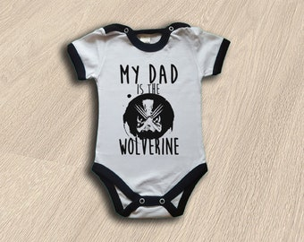 0-3 Months Baby Onesies Comics Wolverine X-Men Funny Toddler Clothes