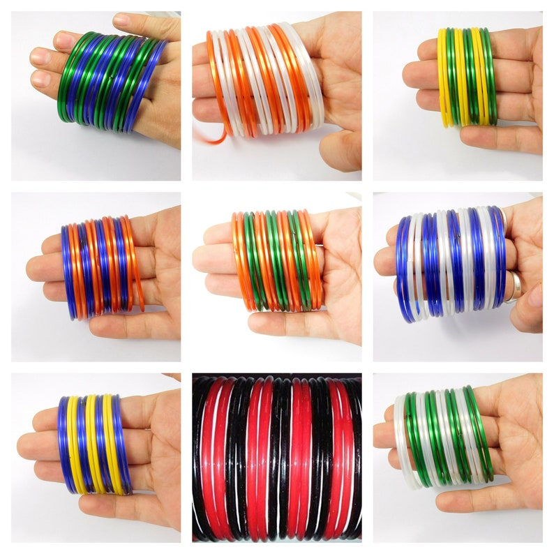 2.6,2.8 12 Pieces Good Quality Beautiful Multi Color Simple Plain Indian Glass Bangle Set For Women /& Girl/'s Free Shipping Bangle Size-2.4