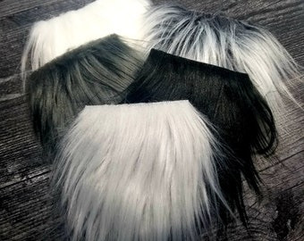 Doll Hair CRAFT FURS Gnome Beard Furs Gnome Beard  Hair and Doll Making Hair 18x4 Curly White Flokati Faux Fur Long Pile Faux Fur