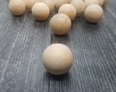 3 Pack - 1 Inch Solid Round Wooden Balls - 1 Inch Gnome Noses - DIY Gnome Supplies - Craft Kits - Gnome Accessories - Natural - Birch Wood