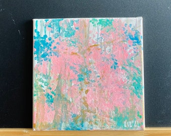 """Abstract Painting 8x8in """"Sehome"""""""