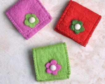 Mini bag for gifts Felt Pouch Jewelry Case Embroidered Bag Ring Pouch