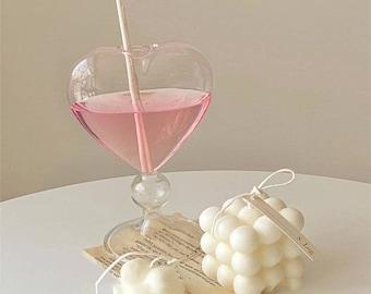 Heart Vase Heart Shaped Drinking Glass Home Decor Flower Pot Vase Table Decoration Terrarium Glass Container Romantic Valentines Wedding