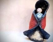 Sculpture Little Red Riding Hood in Cartapesta