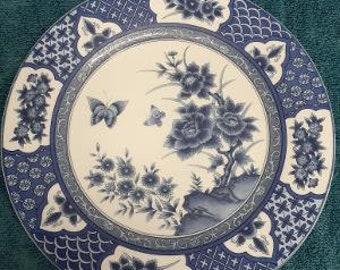 Imari Blossom Pattern Blue Theme Dinner Plate