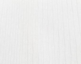 Jaquard Jersey uni white