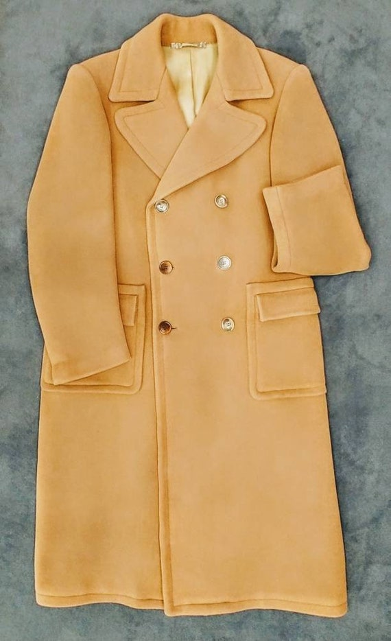 Double Breasted Overcoat in Camel