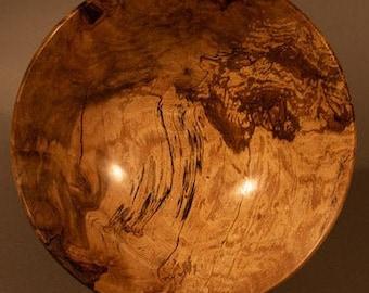 Beautiful Spalted Birch  Burl Bowl