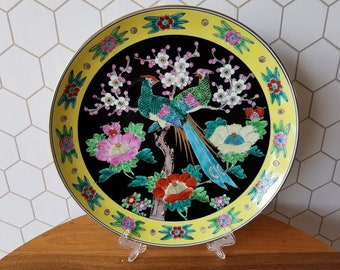Large Japanese wallboard, plate with a beautiful decoration