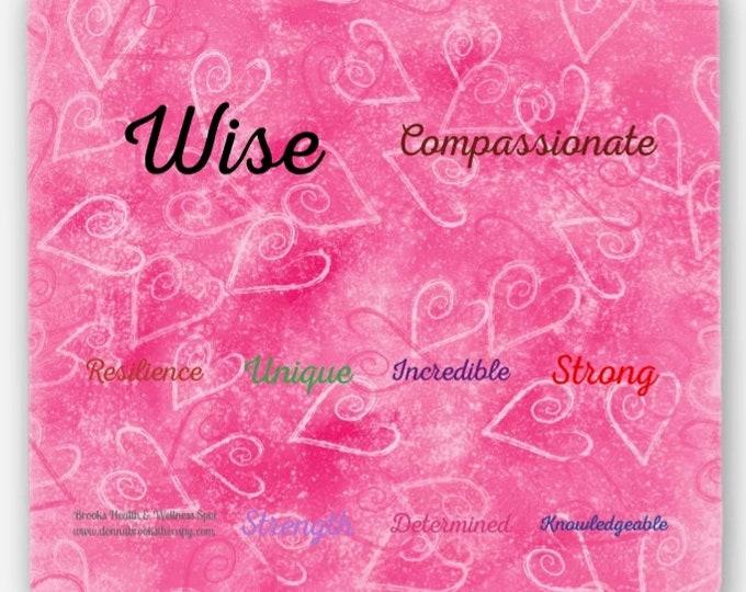 Coaster Set of (4) Positive Affirmations