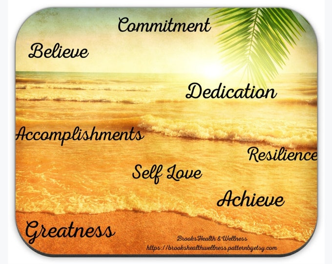 Mouse Pad w/ Positive Affirmations