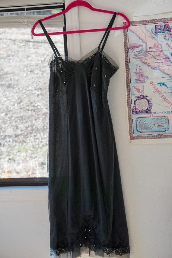 Vintage Pin Up Boudoir Lingerie- Sexy Black Babydo