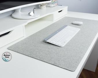 Natural Wool Felt Desk Mats - Desk Pads Made in Canada - No Logo